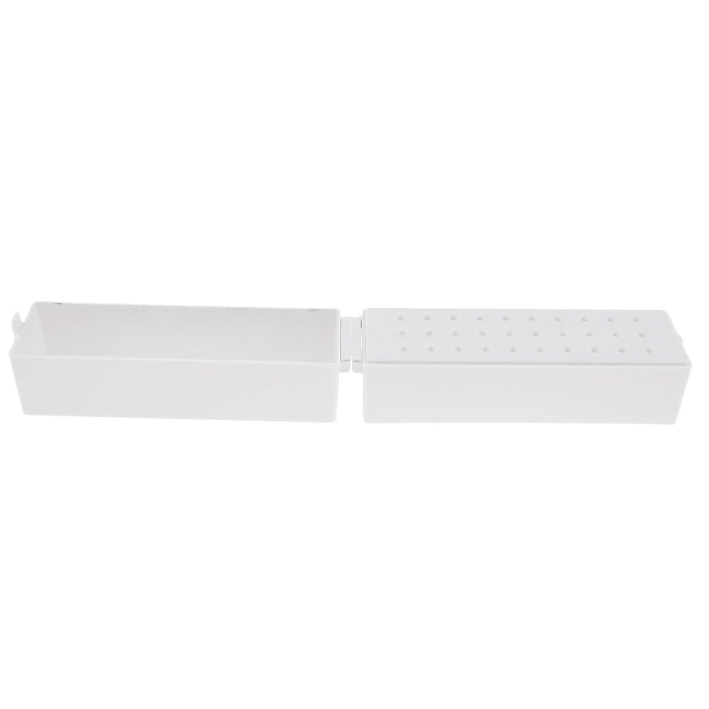 バルーン歯科医乱気流CUTICATE ドリルビットホルダー ドリルビットスタンド 収納オーガナイザー プラスチック ネイル道具