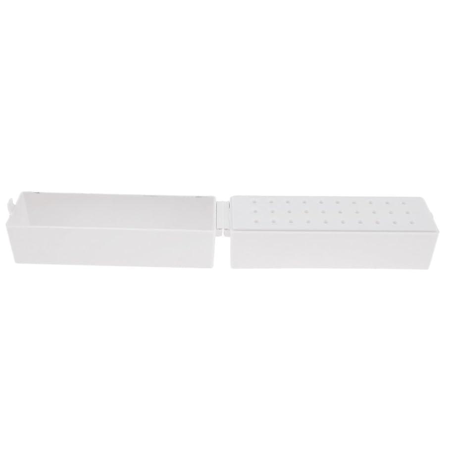 CUTICATE ドリルビットホルダー ドリルビットスタンド 収納オーガナイザー プラスチック ネイル道具