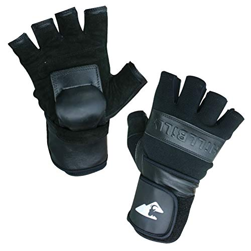 Hillbilly Wrist Guard Gloves - Half Finger (Black, Medium)