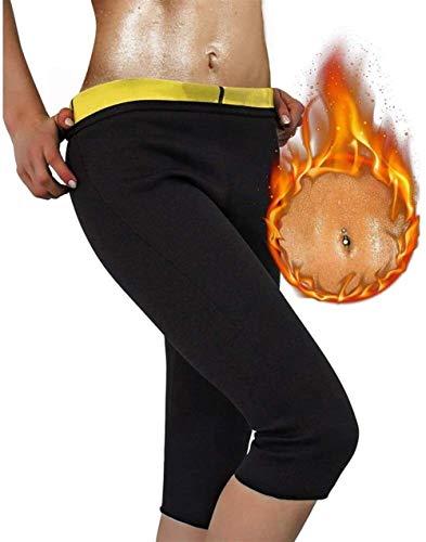 MFFACAI Faja Moldeadora térmica para Mujer, Pantalones adelgazantes Quemador de Grasa en los Muslos, el Mejor Traje Sauna Entrenamiento, Fajas Control Barriga Cintura Alta Bajar Peso (Size : XXXL)