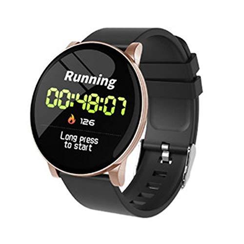 Smart Watch Sovo Redondo con Caja de IP Rosa y corrra Silicona Negra