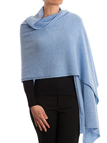 DALLE PIANE CASHMERE - Stola aus 100% Kaschmir - für Frau, Farbe: Himmel, Einheitsgröße