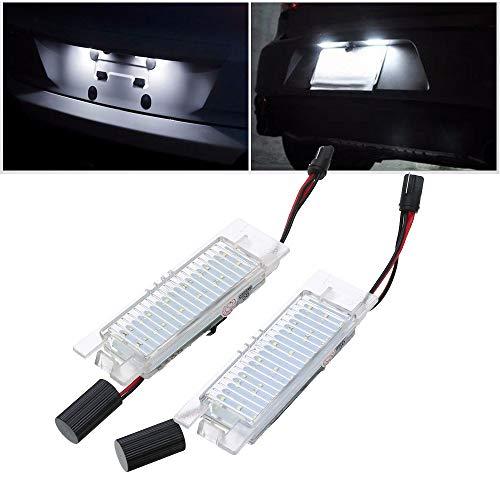 Ricoy 2 piezas de 18 luces LED para placa de matrícula para Corsa C D, Astra H J Insignia 6000 K (paquete de 2)
