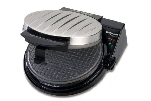 Waffle Cone Maker Features Nonstick Baking Surface