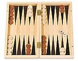 Fridolin Bamboo Game - Backgammon aus Bambus; Geöffnet: 28 x 2 x 29,4 cm