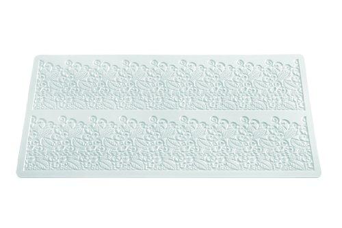 Wonder Cakes by Silikomart 23.087.87.0196 Trd 07 Tapis pour Dentelles Sucre Motif Baroque Silicone Blanc 44 x 21 x 0,5 cm