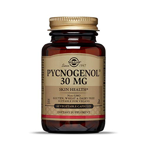 Solgar Pycnogenol 30 mg, 60 Vegetable Capsules - Antioxidant Protection - Circulatory, Joint and Skin Support - Non-GMO, Vegan, Gluten Free, Dairy Free, Kosher - 60 Servings