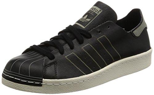 adidas Unisex-Erwachsene Superstar 80s Decon Gymnastikschuhe, Schwarz (Core Black/core Black/Vintage White), 38 EU
