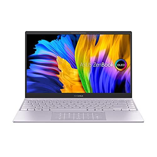"ASUS ZenBook 13 OLED (2021) Intel Core i5-1135G7 11th Gen 14"" (35.56cms) FHD Thin and Light Laptop (16GB/512GB SSD/Windows 10/Office 2019/Intel Iris Xᵉ Graphics/Lilac Mist/1.14 kg), UX325EA-KG511TS"