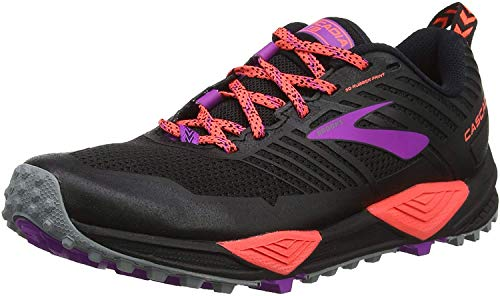 Brooks Cascadia 13, Zapatillas de Cross para Mujer, Negro (Black/Coral/Purple 026), 37.5 EU
