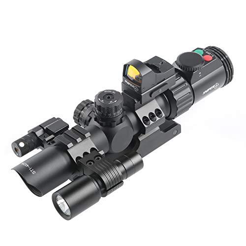 ST1-4X28L Rifle Scope Combo REDDOT Flashlight RED Laser