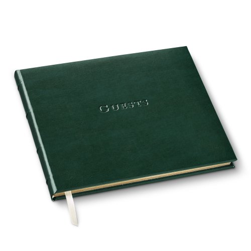 Gallery Leather Guest Book Acadia Green