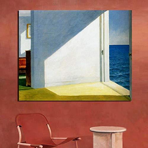 KWzEQ Leinwand Wandkunst Poster drucken Moderne Wandbild im Wohnzimmer am Meer für Wohnzimmer Hauptdekoration,Rahmenlose Malerei,70x90cm