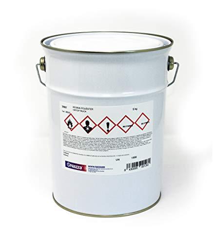 Resina de Poliéster Ortoftálica Nazza | De reactividad media, preacelerada y tixotrópica | Transparente y libre de impurezas | 5 kg.