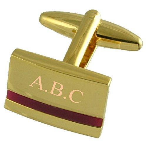 Améthyste violette manchette or gravé avec pochette cadeau personnalisé Sélectionnez