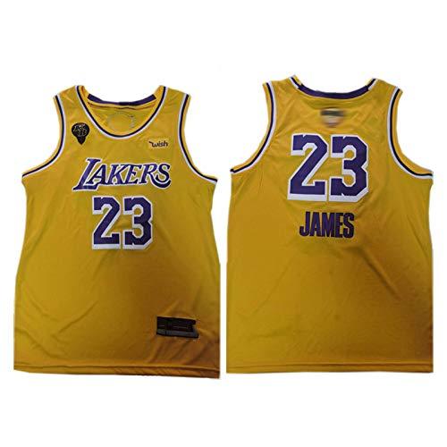 LêBron Jāmes LA Lākers 23# - Maglia da basket da uomo, con nome del giocatore e numero di ricamo, con applicazione termica, idea regalo Colore XL