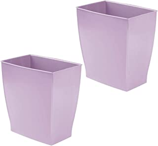 mDesign Rectangular Trash Can Wastebasket, Small Garbage Container Bin for Bathrooms, Powder Rooms, Kitchens, Home Offices...