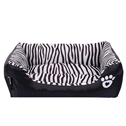 Pet Sofa Lounger Bed for Small Medium Dog Ultra Soft Washable Rectangle Cat Nest Nonslip Waterproof Bottom