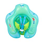 LIOOBO Baby Swimming Ring Float with Seat 1 to 6 Years Old Young Kids Inflatable Size L Bath Beach Pool Water Toys Swim Learning