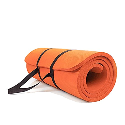 Sunny Exercise Mat Thick High Density Exercise Yoga Mat with Carry Strap (Size 71