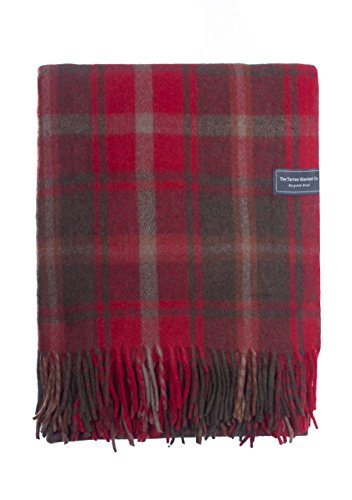 Manta de lana reciclada de 75 x 168 cm de The Tartan Blanket Co.
