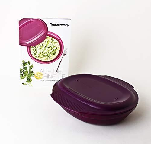 TUPPERWARE Mikrowelle Healthy Delight 775ml großer Omelett-Meister + Rezeptheft Auf die Schnelle