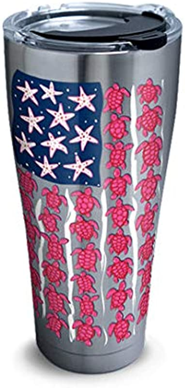Tervis 30 Oz Stainless Tumbler Simply Southern Turtle Flag