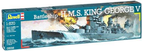 Revell Modellbausatz 05016 - H.M.S. King George V im Maßstab 1:570