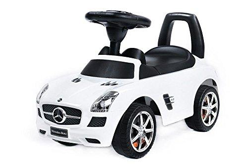 Vehículo Ride On - Coche para ninos - Mercedes SLS AMG Blanco