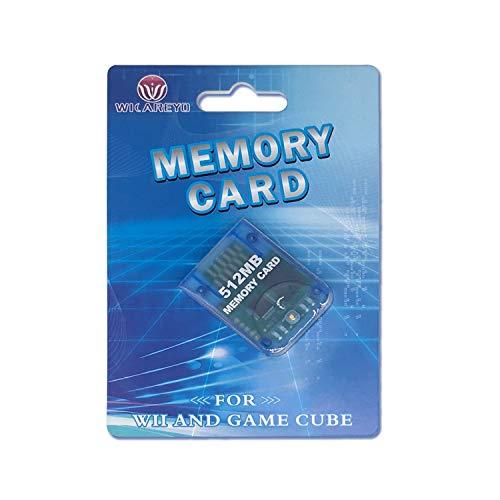WiCareYo 512M Speicherkarte Memory Card Mit Hoher Kapazität mit Paket Für Wii NGC Gamecube Konsole