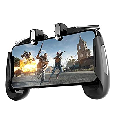 Newseego Mobile Game Controllers,[Upgrade Version] Sensitive Shoot Aim Multiple Color Combinations Gaming Grip with Gaming Trigger for Knives Out/Rules of Survival for Android & iOS- Black from Newseego