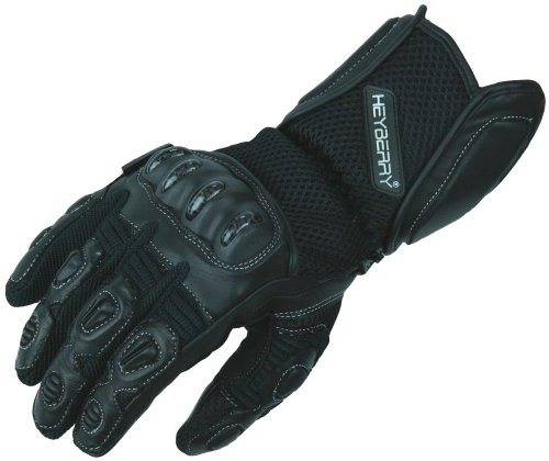 Heyberry Sommer Motorradhandschuhe Motorrad Handschuhe schwarz Gr. L