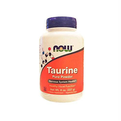 NOW Supplements, Taurine Pure Powder, Nervous System Health*, Amino Acid, 8-Ounce