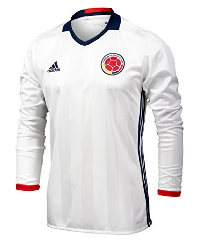 Adidas Colombia Home Soccer Jersey Copa America Centenario 2016 Long Sleeve White/navy,Small
