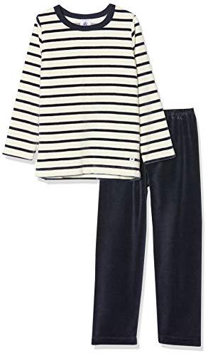 Petit Bateau Jungen Pyjama_5166301 Zweiteiliger Schlafanzug, Mehrfarbig (Smoking/Coquille 01), 104 (Herstellergröße: 4ans/104cm)