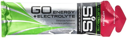 Science in Sport Go Isotonic Energy Gel with Electrolyte, Raspberry, 60 ml, Pack of 30