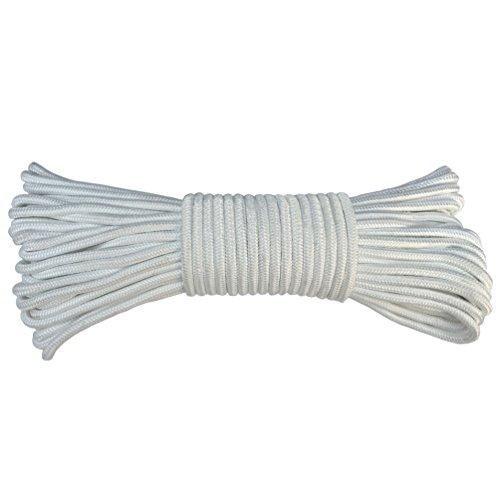Corde de drisse solide tressée en polyester pour mât de drapeau #8 (¼\