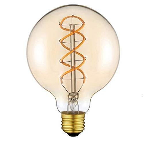 G95 LED E27 Glühbirne, Warmweiß LED Globelampe für Retro Beleuchtung mit 2000 Kelvin 1.7W Ersetzt 11W Leuchtmittel [Nicht Dimmbar] [Energieklasse A+] Ideal für Restaurant Café Bar - Spiral Filament