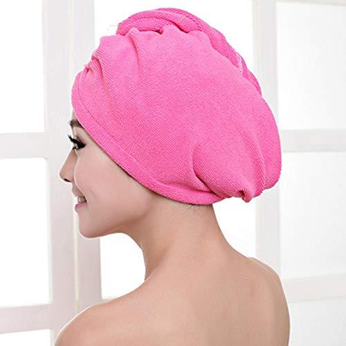Sunnyflowk Superfine Fiber Bath Hair Dry Hat Bonnet de douche Soft Strong Absorbing Water Quick Dry Head Towel Cap Hat For Bathing (Plum)