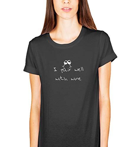 Wijn koppelen een liefde grappige Quote_KK015136 shirt T-shirt T-shirt voor mannen cadeau voor hem cadeau verjaardag Kerstmis