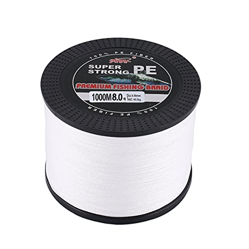 DBSUFV YUDELI 1000m Super Strong PE Braided Fishing Line Abrasion Resistant 0.5mm 40.2kg Zero Stretch Fishing Accessories