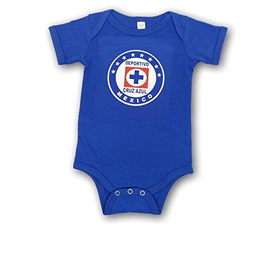 Cruz Azul Baby Bodysuit Mameluco Jumpsuit (12-18 Months, Royal Blue)