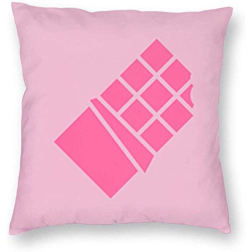 Mesllings Funda de almohada, funda de cojín y funda de almohada para sofá, suave, cómoda, 40 x 40 cm, color rosa chocolate