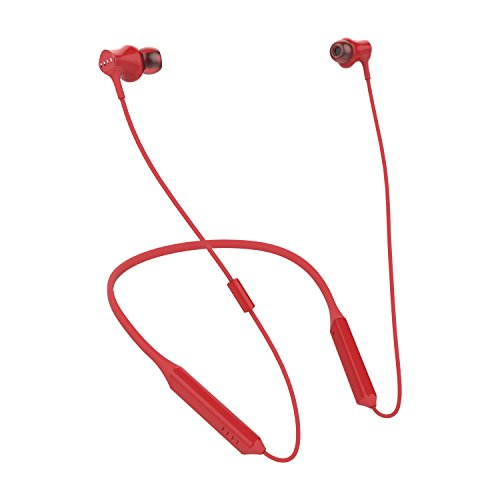 FIIL DRIIFTER Multi-Device Pairing, Sweat, Dust and Water Resistant Wireless Bluetooth Neckband In-Ear Headphone in Red