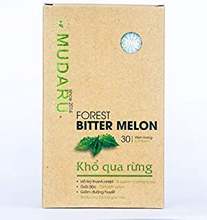 Mudaru Forest Bitter Melon Capsules| Support Cooling Body, Detoxification, Reducing Blood Glucose| 1300 mg| 30 capsules| H...