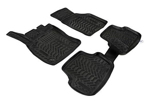 J&J AUTOMOTIVE | 3D Exclusive Tapis DE Sol en Caoutchouc Compatible avec Golf 7 VII 2012-2019 Noir 4pcs