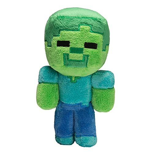 JINX Minecraft Baby Zombie Plush Stuffed Toy, Multi-Colored, 8.5' Tall
