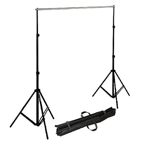 RPGT® 2,8 x 3 m Hintergrundsystem Set mit 2 Stativen inkl. Transport-Tasche
