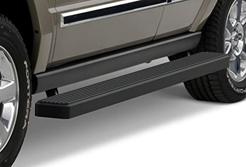 APS iBoard Running Boards (Nerf Bars Side Steps Step Bars) Compatible with 2006-2011 Commander Sport Utility 4-Door (7 Passenger Commander with Rear AC Only) (Black Powder Coated 5 inches)