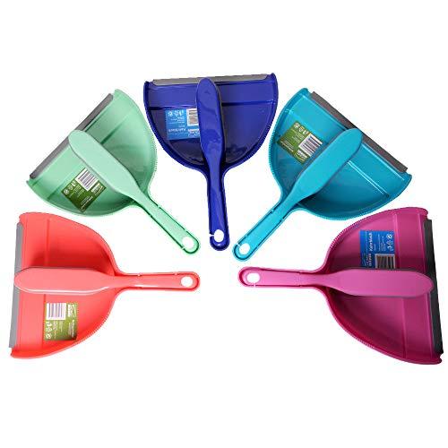 SHD – Kehrgarnitur mit Gummihandfeger für innen und außen – Kehrset für Haus, Küche, Balkon u.v.m. – Pflegeleichte Gummiborsten ideal für Schmutz und Tierhaare